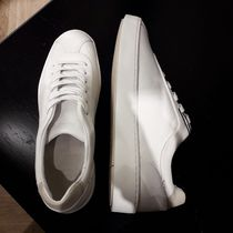 Massimo Dutti Casual Style Plain Leather Low-Top Sneakers