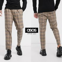 ASOS Other Check Patterns Unisex Wool Street Style Cropped Pants