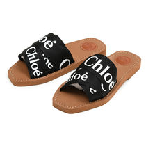 Chloe Casual Style Leather Flip Flops Flat Sandals