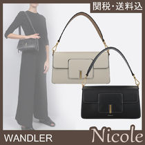 WANDLER Casual Style Calfskin 2WAY Plain Leather Office Style