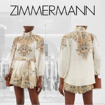 Zimmermann Paisley Casual Style Long Sleeves Shirts & Blouses