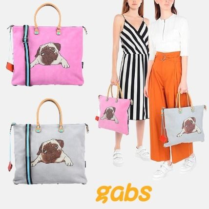 Casual Style A4 Logo Totes