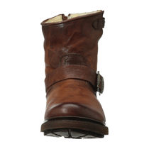 FRYE Round Toe Casual Style Plain Chunky Heels Boots Boots