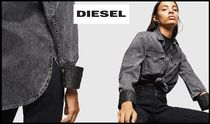 DIESEL Casual Style Blended Fabrics Street Style Long Sleeves Plain