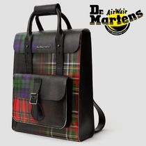 Dr Martens Tartan Unisex Street Style Leather Backpacks