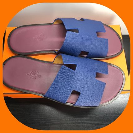 HERMES Unisex Leather Sports Sandals