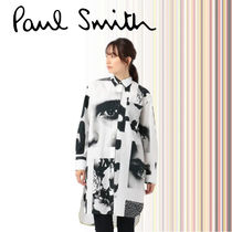 Paul Smith Casual Style Long Sleeves Cotton Long Elegant Style