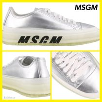 MSGM Rubber Sole Casual Style Street Style Leather