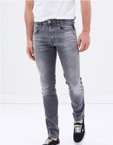 REPLAY Blended Fabrics Plain Cotton Skinny Jeans