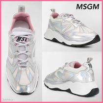 MSGM Casual Style Street Style Leather Low-Top Sneakers