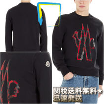 MONCLER Crew Neck Pullovers Street Style Long Sleeves Cotton
