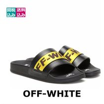 Off-White Open Toe Rubber Sole Plain Sandals Sandal