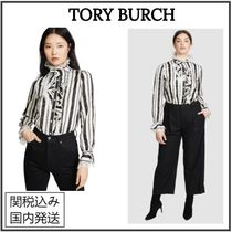 Tory Burch Stripes Silk Nylon Long Sleeves Party Style Home Party Ideas