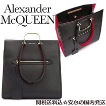 alexander mcqueen A4 Leather Party Style Elegant Style Totes