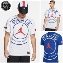 Nike AIR JORDAN Crew Neck Street Style Collaboration Cotton Short Sleeves