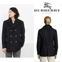 Burberry London Wool Peacoats Coats