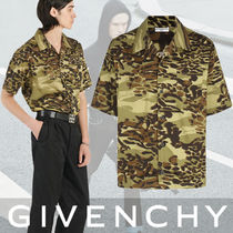 GIVENCHY Camouflage Other Animal Patterns Cotton Short Sleeves Shirts