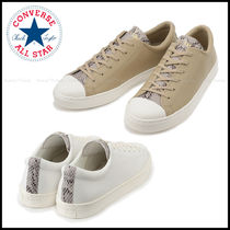 CONVERSE ALL STAR Casual Style Unisex Street Style Leather Python