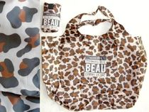 MONOPRIX Leopard Patterns Unisex A4 2WAY Shoppers