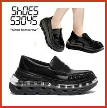 SHOES 53045 Unisex Street Style Plain Sneakers