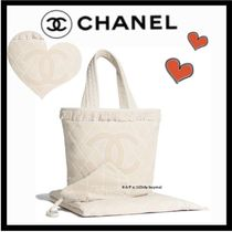 CHANEL SPORTS Casual Style Unisex A4 Plain Totes
