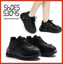 SHOES 53045 Unisex Studded Street Style Plain Sneakers