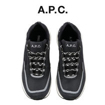 A.P.C. Round Toe Unisex Street Style Low-Top Sneakers