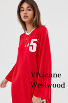 Vivienne Westwood Unisex Street Style V-Neck Long Sleeves Plain Long