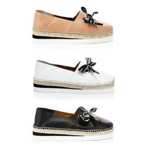 See by Chloe Platform Casual Style Plain Leather Espadrille Shoes
