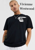 Vivienne Westwood Crew Neck Unisex Street Style Plain Cotton Short Sleeves