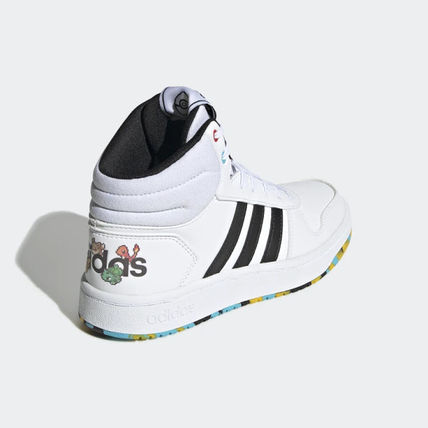 adidas HOOPS Unisex Street Style Collaboration Kids Girl Shoes