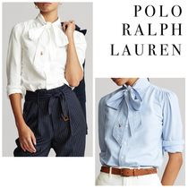 POLO RALPH LAUREN Casual Style Long Sleeves Plain Cotton Office Style