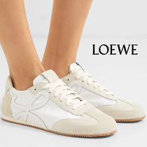 LOEWE Casual Style Plain Leather Low-Top Sneakers