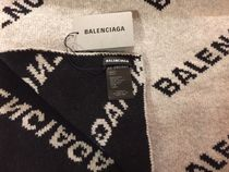 BALENCIAGA Knit & Fur Scarves