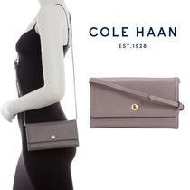 Cole Haan Casual Style 2WAY Plain Leather Shoulder Bags