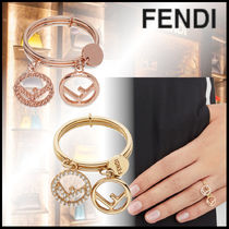 FENDI F IS FENDI Casual Style With Jewels Elegant Style Rings