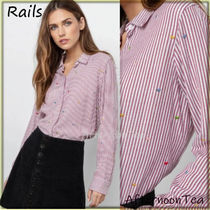 Rails Stripes Heart Long Sleeves Medium Handmade Shirts & Blouses