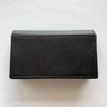 PRADA Logo Saffiano Plain Card Holders