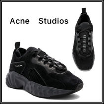 Acne Unisex Suede Street Style Plain Sneakers