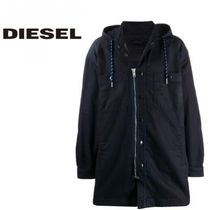 DIESEL Nylon Street Style Plain Long Jackets