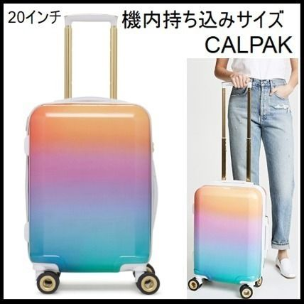Unisex Blended Fabrics Street Style Luggage & Travel Bags