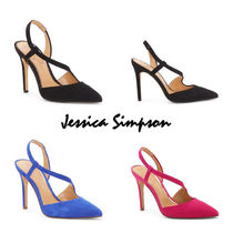 Jessica Simpson Plain Toe Casual Style Plain Pin Heels Party Style