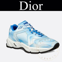 Christian Dior Blended Fabrics Street Style Leather Handmade Sneakers