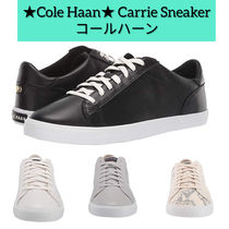 Cole Haan Round Toe Lace-up Plain Leather Python Low-Top Sneakers