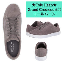 Cole Haan Rubber Sole Casual Style Suede Plain Low-Top Sneakers