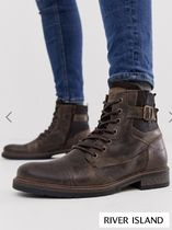 River Island Plain Leather Boots