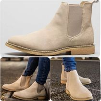 Bee Inspired Clothing Plain Toe Suede Street Style Plain Chelsea Boots