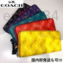 Coach Leather Fringes PVC Clothing Long Wallet  Logo Long Wallets