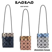 BAO BAO ISSEY MIYAKE Casual Style Nylon Bi-color Plain Party Style Shoulder Bags