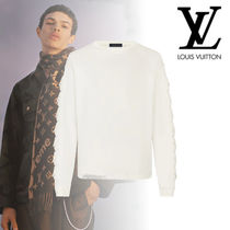 Louis Vuitton Unisex Street Style Long Sleeves Plain Cotton Oversized